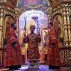 В праздник обретения главы Иоанна Крестителя епископ Каскеленский Геннадий совершил Литургию в Вознесенском соборе Алматы