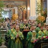 Служение викария Астанайской епархии в праздник Пресвятой Троицы
